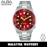Alba AG8L39X Active Quartz Red Dial Silver-Tone Stainless Steel Women's Watch AG8L39 AG8L39X1 (from SEIKO Watch Corporation)