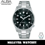 Alba AG8L47X Active Quartz Black Dial Silver-Tone Stainless Steel Women's Watch AG8L47 AG8L47X1 (from SEIKO Watch Corporation)