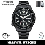 (100% Original) Citizen Promaster Fugu 4th Gen. NY0135-80E Automatic Divers 200M Sapphire Glass Black Stainless Steel Men's Watch (3 Years Warranty)
