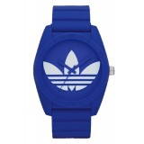 ADIDAS ADH6169 Santiago Blue Dial Blue Rubber Strap Unisex Quartz Watch (Blue & White)