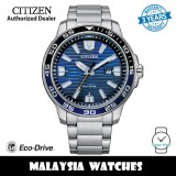 (100% Original) Citizen AW1525-81L Eco Drive Blue Dial Silver-Tone Stainless Steel Men's Watch (3 Years Warranty)