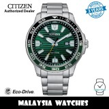 (100% Original) Citizen AW1526-89X Eco Drive Green Dial Silver-Tone Stainless Steel Men's Watch (3 Years Warranty)