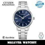 (100% Original) Citizen BJ6541-58L Eco Drive Blue Dial Silver-Tone Stainless Steel Men's Watch (3 Years Warranty)