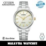 (100% Original) Citizen BJ6541-58P Eco Drive Beige Dial Silver-Tone Stainless Steel Men's Watch (3 Years Warranty)