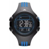 Adidas Performance ADP6082 Questra Black Dial Black & Blue Resin Strap Unisex Watch (Black & Blue)