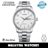 (100% Original) Citizen BM8550-81A Eco Drive White Dial Stainless Steel Case & Strap Men's Watch (3 Years Warranty)
