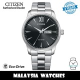 (100% Original) Citizen BM8550-81E Eco Drive Black Dial Stainless Steel Case & Strap Men's Watch (3 Years Warranty)