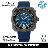 (100% Original) Citizen Promaster BN0227-09L Eco-Drive 200M Diver Super Titanium Case Blue Polyurethane Strap Men's Watch (3 Years Warranty)