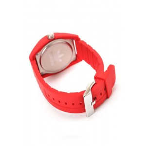 ADIDAS ADH6168 Santiago Red Dial Red Rubber Strap Unisex Quartz Watch (Red & White)