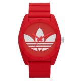 ADIDAS ADH6168 Santiago Red Dial Red Rubber Strap Unisex Quartz Watch (Red & White)