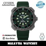 (100% Original) Citizen Promaster BN0228-06W Eco-Drive 200M Diver Super Titanium Case Green Polyurethane Strap Men's Watch (3 Years Warranty)
