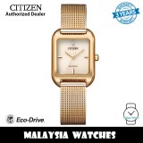 (100% Original) Citizen EM0493-85P Eco-Drive Light Rose Dial Rose Gold-Tone Stainless Steel Mesh Watch (3 Years Warranty)