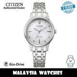 (100% Original) Citizen EM0890-85A Eco-Drive Silver Dial Silver-Tone Stainless Steel Women's Watch (3 Years Warranty)