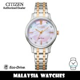 (100% Original) Citizen EM0896-89Y Eco-Drive Mother Of Pearl Pink Dial Two Tone Stainless Steel Women's Watch (3 Years Warranty)
