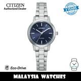 (100% Original) Citizen EM0930-58L Eco-Drive Dark Blue Dial Silver-Tone Stainless Steel Women's Watch (3 Years Warranty)