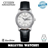 (100% Original) Citizen EW3260-17A Eco-Drive White Dial Stainless Steel Case Black Leather Strap Women's Watch (3 Years Warranty)