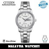 (100% Original) Citizen EW3260-84A Eco-Drive White Dial Stainless Steel Women's Watch (3 Years Warranty)