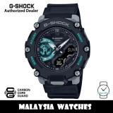 (OFFICIAL WARRANTY) Casio G-Shock GA-2200M-1A Analog Digital Carbon Core Guard Black / Turquoise Resin Watch GA2200 GA-2200 GA2200M GA2200M-1A GA-2200M-1ADR