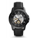 Fossil ME3096 Grant Three-Hand Automatic Black Leather Watch