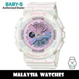 (OFFICIAL WARRANTY) Casio Baby-G BA-110PL-7A1 Analog Digital Pink / Blue Dial White Resin Watch BA110 BA-110 BA110PL BA110PL-7A1 BA-110PL-7A1DR