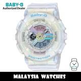 (OFFICIAL WARRANTY) Casio Baby-G BA-110PL-7A2 Analog Digital Pink / Blue Dial White Semi Transparent Resin Watch BA110 BA-110 BA110PL BA110PL-7A2 BA-110PL-7A2DR