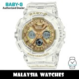 (OFFICIAL WARRANTY) Casio Baby-G BA-130CVG-7A Catch The Vibe White Semi Transparent Resin Watch BA130 BA-130 BA130CVG BA130CVG-7A BA-130CVG-7ADR