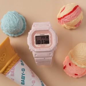 (OFFICIAL WARRANTY) Casio Baby-G BGD-560CR-4 Ice Cream Digital Strawberry Resin Watch BGD560 BGD-560 BGD560CR BGD560CR-4 BGD-560CR BGD-560CR-4DR