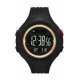 Adidas Performance ADP6137 Questra Black Dial Resin Strap Unisex Watch (Black & Gold)
