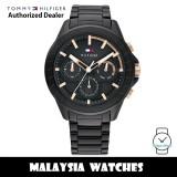 (100% Original) Tommy Hilfiger 1791858 Aiden MultiDial Black Dial Black Stainless Steel Men's Watch (2 Years International Warranty)