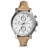 Fossil ES3625 Original Chronograph Leather Female Watch (Bone)