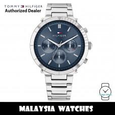 (100% Original) Tommy Hilfiger 1782349 Emery Multi Dial Blue Dial Stainless Steel Women's Watch (2 Years International Warranty)