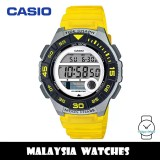 (100% Original) Casio LWS-1100H-9A Youth Digital Moon Data Tide Graph Yellow Resin Watch LWS1100H LWS1100H-9A LWS-1100H-9AVDF