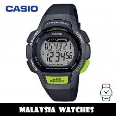 (100% Original) Casio LWS-1000H-1A Youth Digital Lap Memory Black Resin Watch LWS1000H LWS1000H-1A LWS-1000H-1AVDF