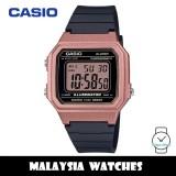 (100% Original) Casio W-217HM-5A Standard Digital 7 Years Battery Black Resin Watch W-217HM W217HM W-217HM-5AV W217HM-5A W-217HM-5AVDF