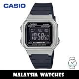 (100% Original) Casio W-217HM-7B Standard Digital 7 Years Battery Black Resin Watch W-217HM W217HM W-217HM-7BV W-217HM-7BVDF