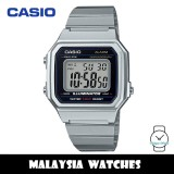 (100% Original) Casio B650WD-1A Standard Digital Resin Case Stainless Steel Strap Unisex Watch B650WD B650WD-1ADF