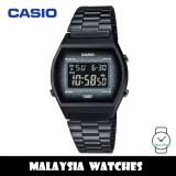 (100% Original) Casio B640WBG-1B Digital Glitter Face Black Resin Case Black Stainless Steel Strap Watch B640WBG B640WBG-1BDF