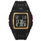 Adidas Performance ADP6136 Duramo Black Dial Black Resin Strap Unisex Watch (Black & Gold)