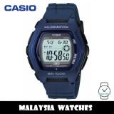 (100% Original) Casio HDD-600C-2A Youth Digital 10-Year Battery Life Blue Resin Men's Watch HDD600 HDD600C-2A HDD-600C-2AV