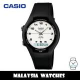 (100% Original) Casio AW-90H-7B Classic Analog Digital White Dial Black Resin Watch AW90H AW-90H AW90H-7B AW-90H-7BV AW-90H-7BVDF