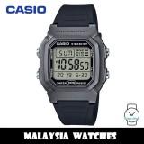 (100% Original) Casio W-800HM-7A Youth Classic Digital 10-YEAR BATTERY LIFE Grey Resin Case Black Resin Strap W800HM W800HM-7A W-800HM-7AV W-800HM-7AVDF