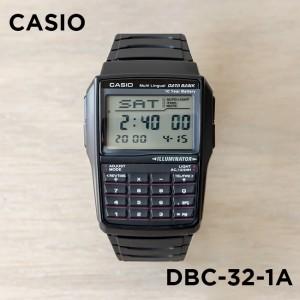 (100% Original) Casio DBC-32-1A Data Bank Calculator Youth Digital Black Resin Watch DBC32 DBC32-1A DBC-32-1ADF
