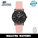 (OFFICIAL WARRANTY) Skechers SR6225 Bellflower Quartz Analog Black-Tone Dial Pink Silicone Strap Women's Watch (2 Years Warranty)
