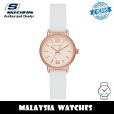 (OFFICIAL WARRANTY) Skechers SR6228 Quartz Analog Rose Gold-Tone Dial White Silicone Strap Ladies' Watch (2 Years Warranty)