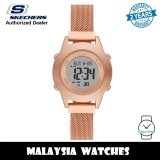 (OFFICIAL WARRANTY) Skechers SR6231 Quartz Digital Rose Gold-Tone Stainless Steel Mesh Watch (2 Years Warranty)