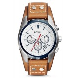 Fossil CH2986 Coachman Chronograph Leather Watch (Tan)