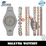 (OFFICIAL WARRANTY) Skechers SR9059 Quartz Grey Silicone Strap Watch + Bracelets Gift Set (2 Years Warranty)