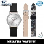 (OFFICIAL WARRANTY) Skechers SR9058 Quartz Silver Dial Black Leather Strap Watch + Strap Gift Set (2 Years Warranty)