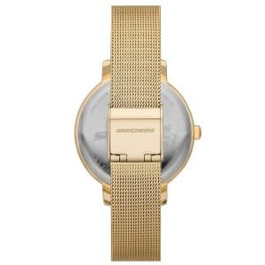 (OFFICIAL WARRANTY) Skechers SR9057 Quartz Gold Dial Gold-Tone Mesh Strap Watch + Strap Gift Set (2 Years Warranty)