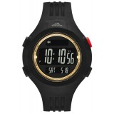 Adidas Performance ADP6138 Questra Black Dial Black Resin Strap Unisex Watch (Black & Gold)